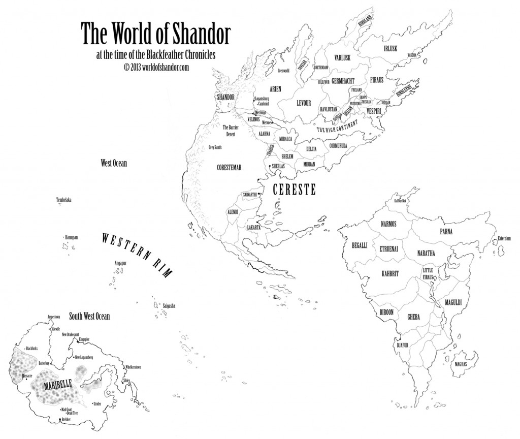World of Shandor map, first version